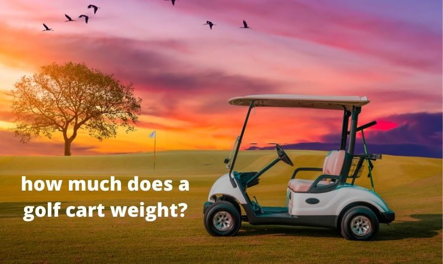 how much does a golf cart weigh