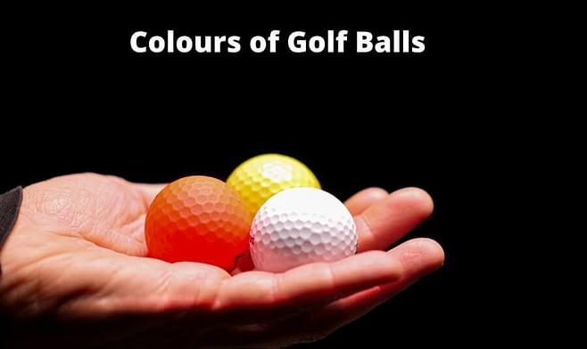 Colors of golf balls