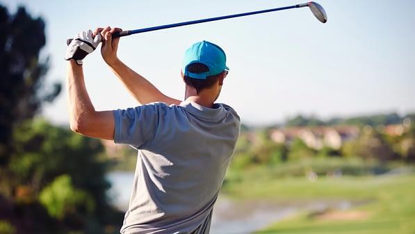 Long ranged golf shot